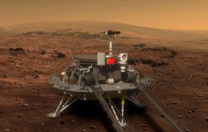 یه فضا پیما بروی سطح مریخ