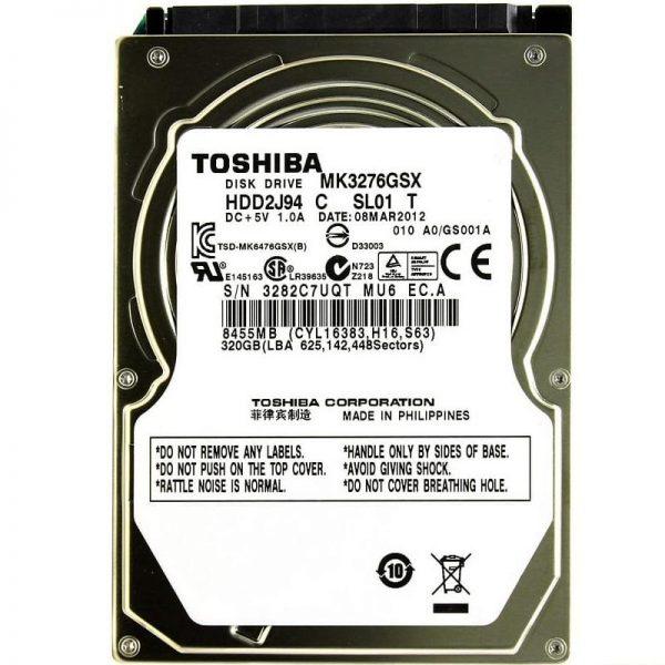 هارد دیسک اینترنال توشیبا مدل MK3276GSX ظرفیت 320 گیگابایت